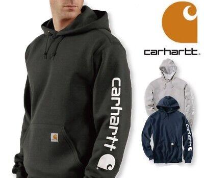 k288 Hoody Signature Sleeve Logo CARHARTT Men/'s Authentic Hooded Sweatshirt