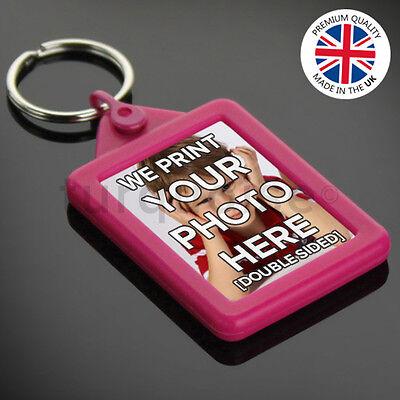 Personalised Custom Photo Gift Gel Keyrings Key Fobs 45 x 35 mm | Passport Size 3