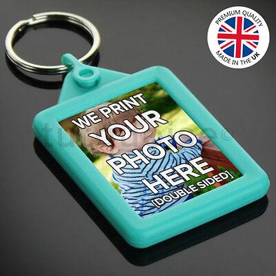 Personalised Custom Photo Gift Gel Keyrings Key Fobs 45 x 35 mm | Passport Size 5