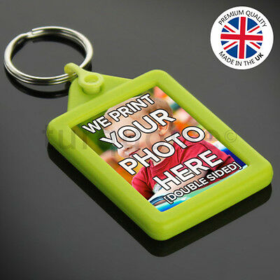 Personalised Custom Photo Gift Gel Keyrings Key Fobs 45 x 35 mm | Passport Size 4