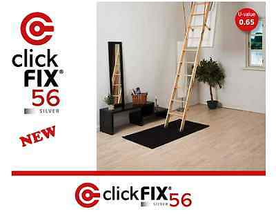 Bodentreppe DOLLE 56 SILVER Uw=0,65 70x120 //280 cm ClickFix® Dachbodentreppe.
