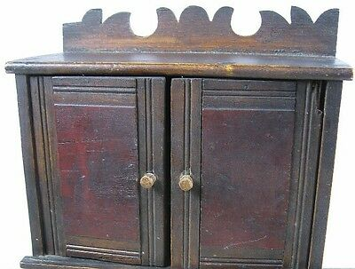 Antique 1860's Doll or Sample Empire Style Chest Nice Style 5