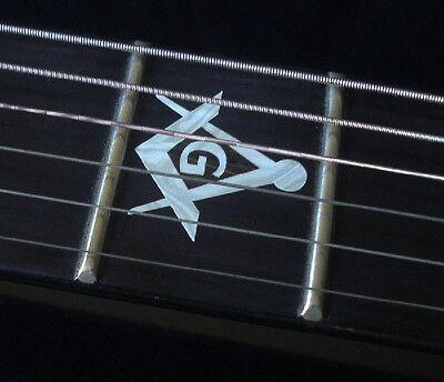 Blink 182 Tom Delonge Custom Strat MOP WHITE PEARL Decal Inlay for BASS & GUITAR 4