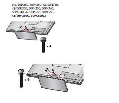 7 screws USA SELLER NEW LG 32LN5300 LCD TV Screws for Stand