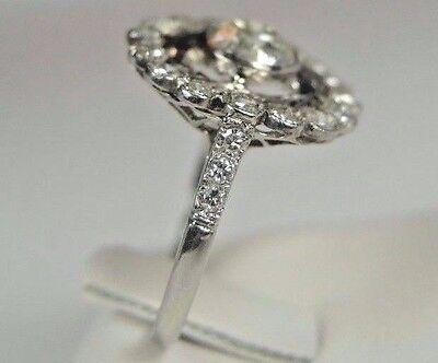 Antique Art Deco Vintage Diamond Platinum Engagement Ring Size 6.25 EGL USA Fine 6