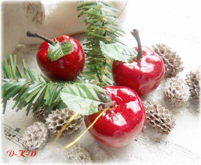Rote Äpfel Apfel Deko Weihnachten Baumanhänger Baumschmuck