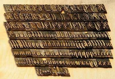 Prägeschrift 10 mm Messingschrift Buchbinder Messing Buchbinden Vergoldepresse 2