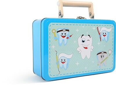 Zahnarztpraxis im Koffer für Kinder Arzt Zahnarzt Holz Arztkoffer Spielzeug Neu 3