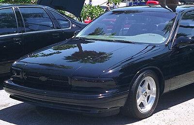 91 96 Chevrolet Caprice Impala Ss Gts Acrylic Smoke Headlight Covers New Gt0159s 2