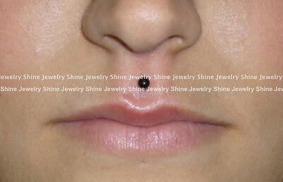6mm 8mm 10mm 12mm Titanium Steel Ball Labret Tragus Ear Lip Bar Stud Piercing 8