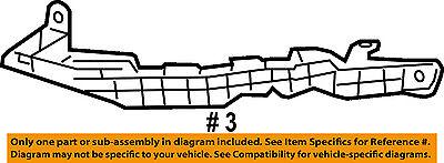 HONDA OEM 08-12 Accord Front Bumper-Side Support Bracket Left 71190TE0A00