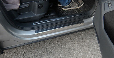VW Tiguan Mk2 Stainless Steel Sill Protectors / Kick Plates 3