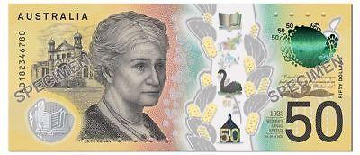 $50 2018 AUSTRALIA Spelling Mistake 'responsibilty' 1 GENUINE UNC Banknote 3