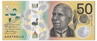 $50 2018 AUSTRALIA Spelling Mistake 'responsibilty' 1 GENUINE UNC Banknote 2