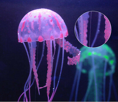 Decor Jellyfish Aquarium Decoration Artificial Glowing Effect Fish Tank Ornament 11