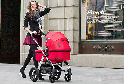 New 2 In 1 Baby Toddler Pram Stroller Jogger Aluminium With Bassinet Black 6