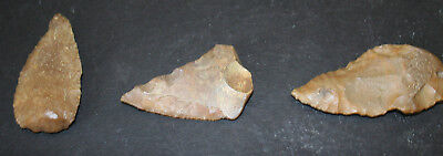 6 Egyptian Faiyum Predynastic Flint Flaked Hand Stone Tools 7400-6400 BC #2