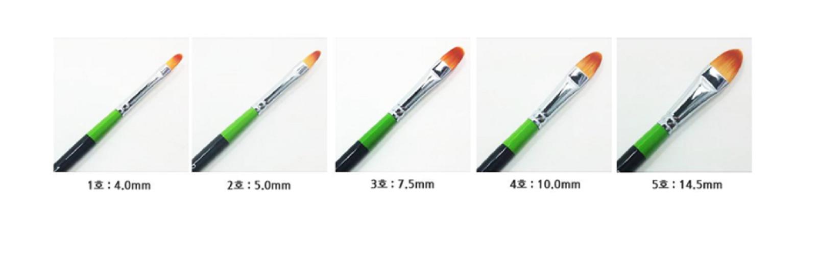 HWAHONG Artist Oil Acrylic Paint Brush Filbert Flat Brush 815 1Set 7ea Brushes