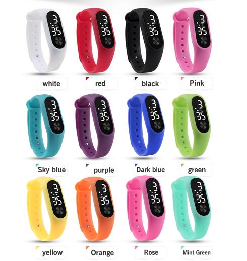 Orologio bracciale da polso uomo/donna/bambini unisex digitale sport vari colori 3