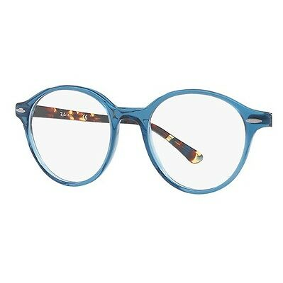 d9d5368ef3 ... NEW RAY BAN RB7118 8022 DEAN ADULT UNISEX BLUE ROUND 49mm Rx EYEGLASSES  FRAME 2