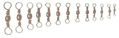 Barrel Swivel Nickel Fishing Terminal Tackle 10pc Pack Size Large 3/0 to10 Small 2