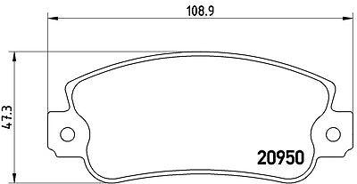 KIT DISCHI + PASTIGLIE FRENO BREMBO FIAT PANDA 141A 1100 Trekking 4x4 37KW ANT