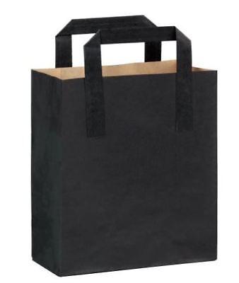 "100 x BROWN STRUNG KRAFT PAPER FRUIT BAGS - 7"" x 7"" 5"