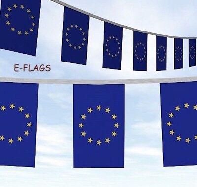 EUROPEAN UNION 3 METRE BUNTING 10 FLAGS flag 3M EURO EUROPE