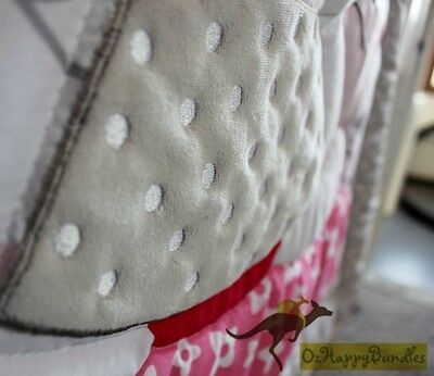 New Baby Girls 7 Pieces Cotton Nursery Bedding Crib Cot Sets-- Pink Rabbit Bunny
