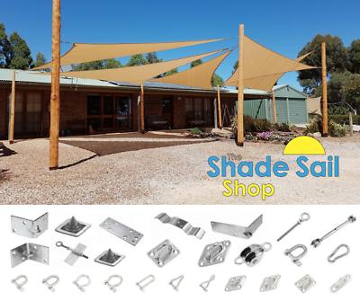 100 x 100 mm Corner Bracket  External STAINLESS STEEL DIY Shade sail accessories 5