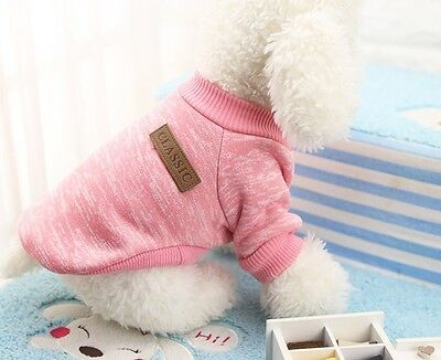 Pet Clothes Knitted Puppy Dog Jumper Sweater For Small Dogs Coat Cat UK STOCK 6