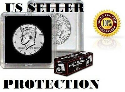 BCW Premium 2x2 Snap Large Dollar Coin Holders 38.5mm Black Frame 3