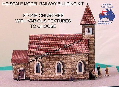 HO Scale Church Stone Model Railway Building Kit 2
