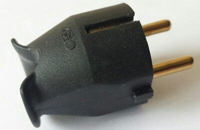 gerade schwarz Schutzkontaktstecker 1 x ABL Schukostecker
