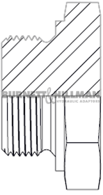 Burnett & Hillman METRIC Solid Plug 1.0mm Pitch Hydraulic Fitting 2