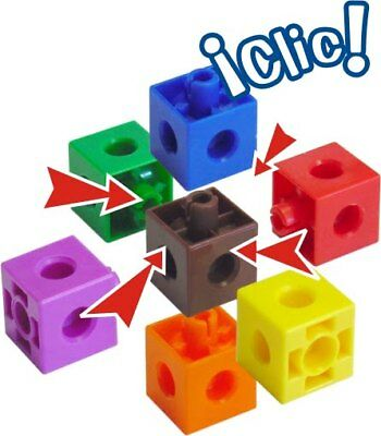 100 x 2cm Snap Cubes & Board - Counting Linking Building Maths Early Learning 8