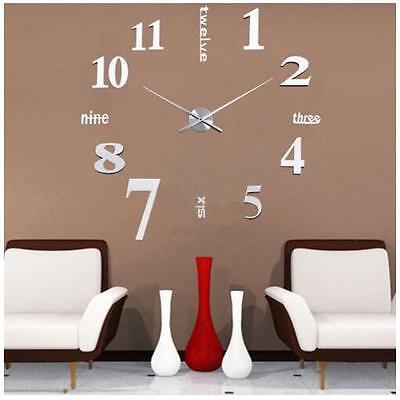 3d Design Wanduhr Kreative Wohnzimmer Uhr Silber Deko Stylisch