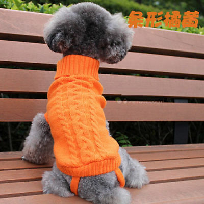 Popular Pet Cat Dog Knitted Jumper Sweater Winter Puppy Warm Coat Jacket Clothes 5