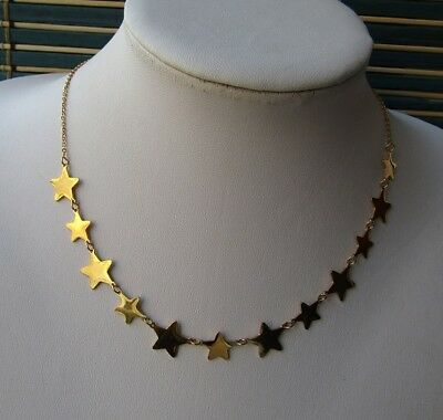 Collana con 12 stelle in acciaio 316L - Oro/Argento Moda Novità 11
