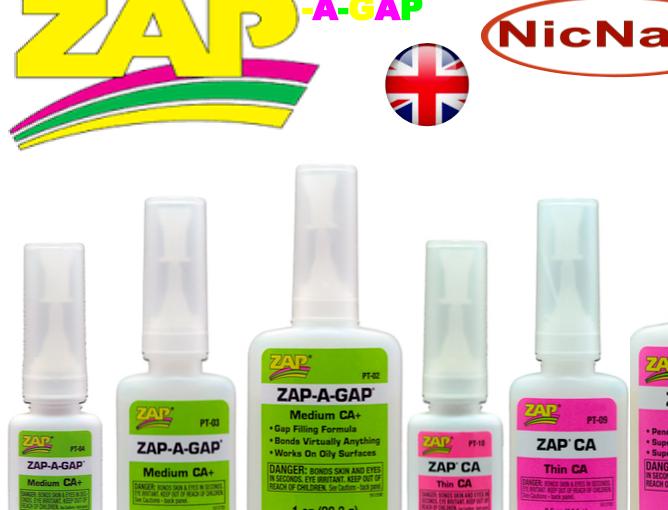 Zap a Gap Glue C A Medium & Thin Quick Setting SuperGlue Cyanoacrylate by Pacer 4