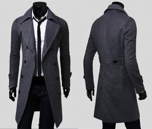 herren trenchcoat business winterjacke sakko lang slim fit mantel sweatjacke top eur 5 99. Black Bedroom Furniture Sets. Home Design Ideas