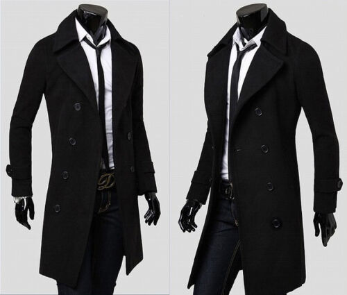 herren trenchcoat winterjacke lang slim fit business sakko mantel sweatjacke neu eur 5 65. Black Bedroom Furniture Sets. Home Design Ideas