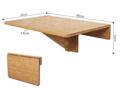 Tavolo A Muro Richiudibile.Sobuy Tavolo Da Muro Pieghevole 60 40cm Senza Sedia Bambu