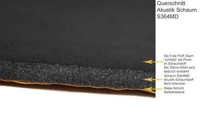 Schalldämmschaum Selbstklebend  Akustik Schaumstoff Dämmung Nicht Brennbar 1cm 5