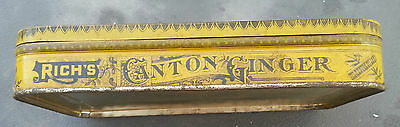 Old Advertising Tin Rich's Crystallized Canton Ginger EC Rich NY 2