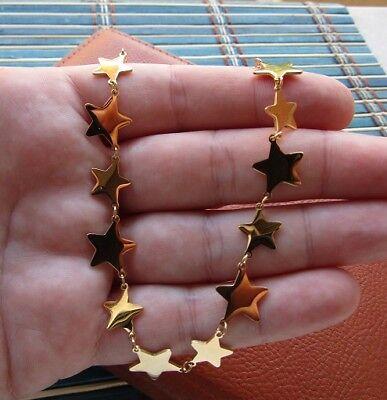Collana con 12 stelle in acciaio 316L - Oro/Argento Moda Novità 8