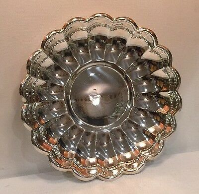 "Silverplate Round Bowl Plate Server Read & Barton # 109 13"" Diameter 1 1/2"" Tall 5"