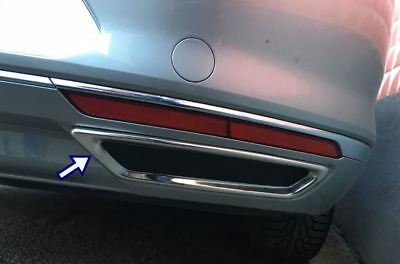 PASSAT B8 SALOON//ESTATE Stainless Steel Chrome Exhaust Deflector Frame 2 Pieces 2015-2018