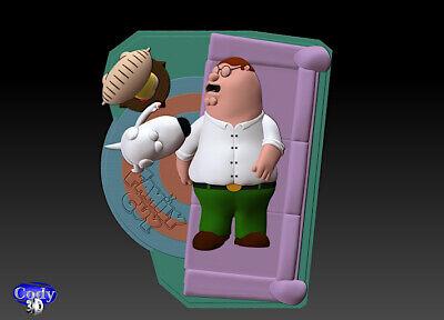 Family Guy (Griffin) File STL-OBJ for 3D Printing FDM-FFF DLP-SLA-SLS 3