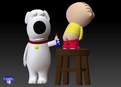 Family Guy (Griffin) File STL-OBJ for 3D Printing FDM-FFF DLP-SLA-SLS 6